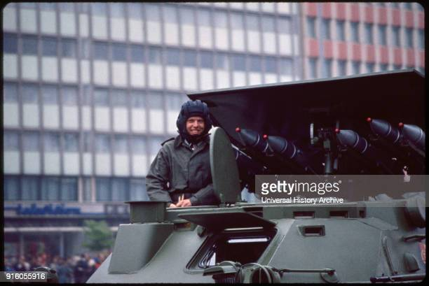 Soldier with Rocket Launcher May Day Parade East Berlin German Democratic Republic May 1 1974