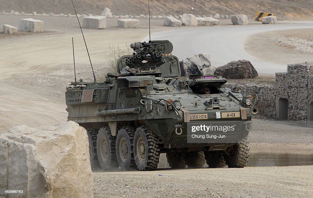 U S  soldiers 25th Infantry Division, Stryker Battalion