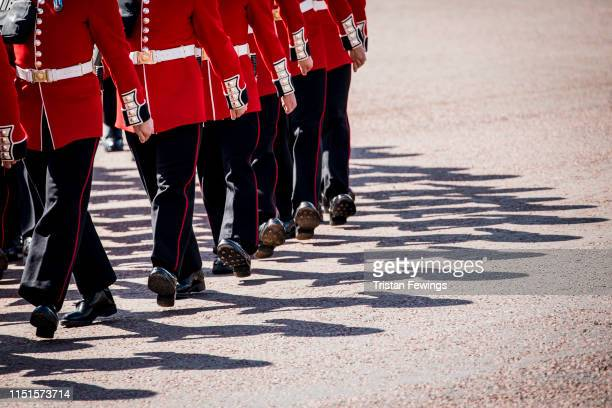 Soldiers and Musicians rehearse at the Major General's Review on May 25 2019 in London England The Major General's Review is the first of two...