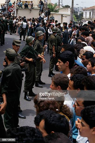 Soldiers and Protesters in Algeria