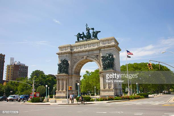 soldiers' and sailors' arch, brooklyn, ny - プロスペクト公園 ストックフォトと画像