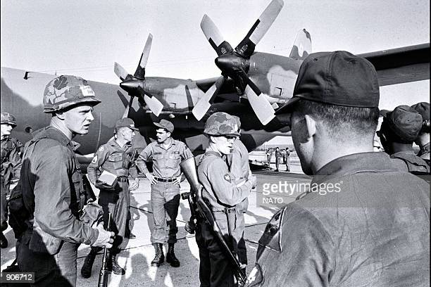 US soldiers are flown to Europe in record time to demonstrate rapidreinforcement 22/10/63 NATO celebrates its fiftieth anniversary on Washington DC...