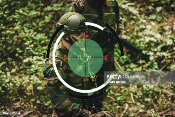 Soldiers are on sniper sight