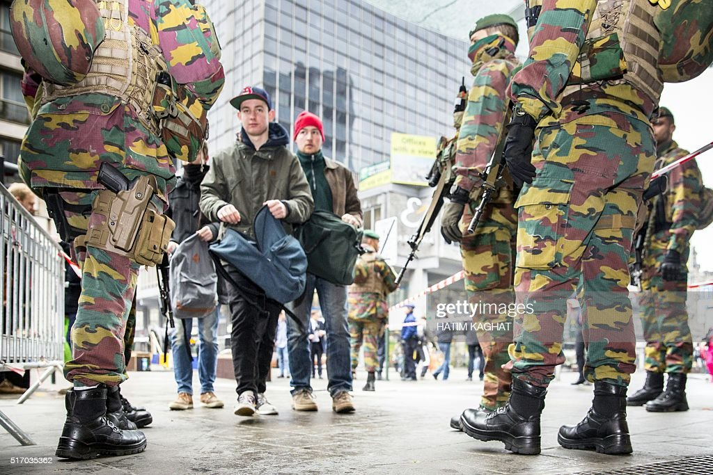 TOPSHOT-BELGIUM-ATTACKS : News Photo