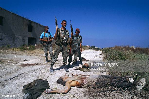 Soldiers discover dead bodies near the Ein El Helweh and Miyeh-Miyeh Camps. | Location: Lebanon.