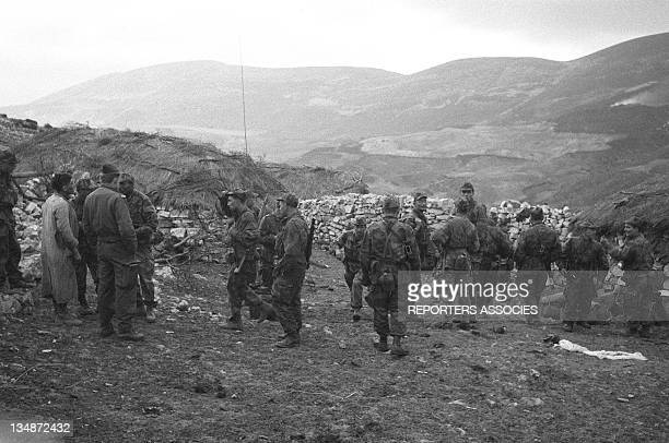 Soldiers during the Operation Bigeard in March 1956 when an armed outbreak in SoukAhras South of Constantine region Algeria led to the killing of...
