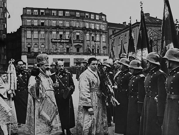 soldiers epiphany in the presence of king boris in sofia in bulgaria