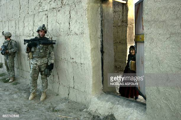 Soldiers from 1st, 2nd and 3rd Platoon Alpha Company, 2nd Battalion, 508 Parachute Infantry Regiment 82Airborne Division, on an operation with Afghan...