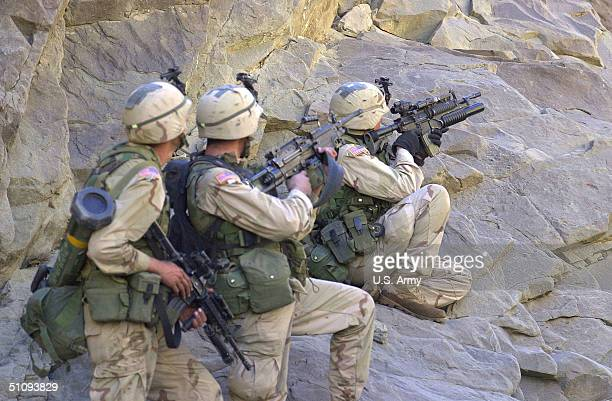 S Soldiers From A Co 431St Infantry Regiment 10Th Mountain Division From Fort Drum Ny Cover Another Squad March 27 After Seeing An Enemy Bunker At An...