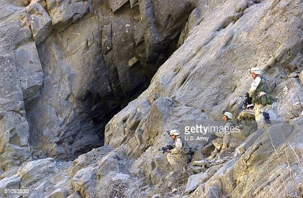 S Soldiers From A Co 431St Infantry Regiment 10Th Mountain Division From Fort Drum Ny Attack A Cave Suspected Of Having Enemy Forces InsideMarch 27...