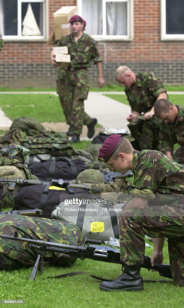 Soldiers from the 2nd Battalion Parachute Regiment prepare