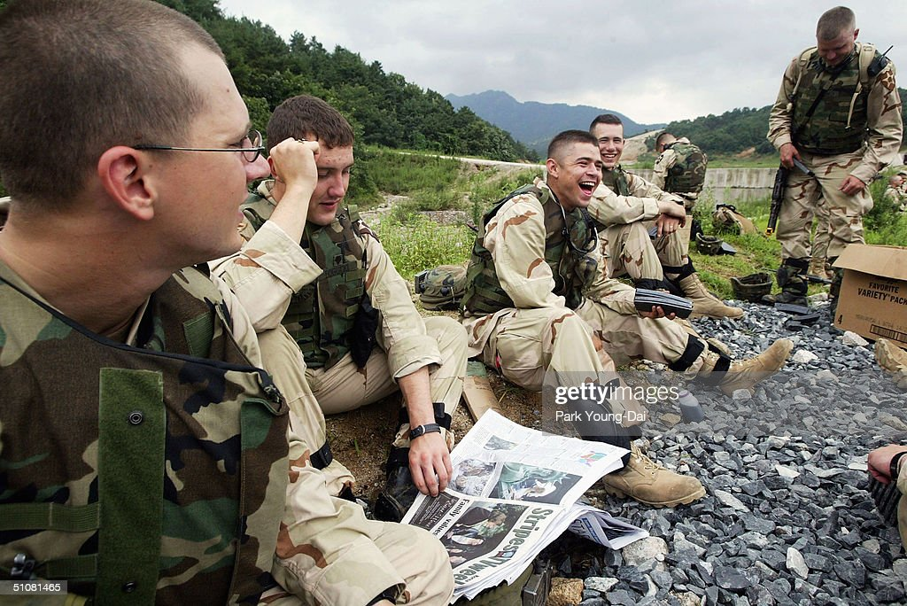 US Soldiers Participate In Desert Strike Training In South Korea - Us army bases in korea map