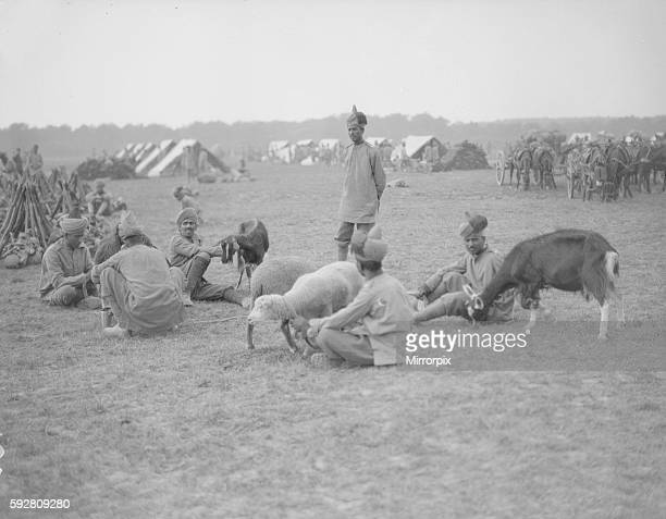 Soldiers from the 3rd Lahore Indian Division seen here at their camp in Orleans France with their goats The animals provide the troops with milk and...