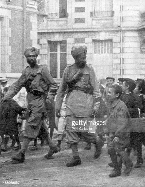 Soldiers from the British Indian Army, France, c1915. The British Indian Army saw service in the Middle East and East Africa, at Gallipoli and on the...