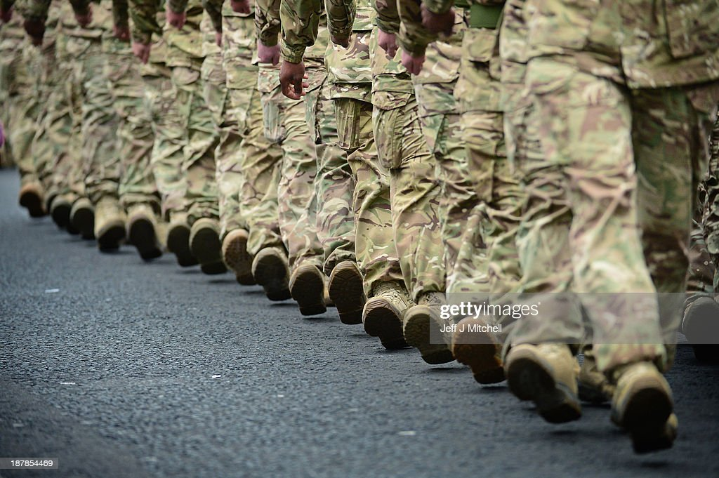 Scottish Soldiers Parade After Afghanistan Tour : News Photo
