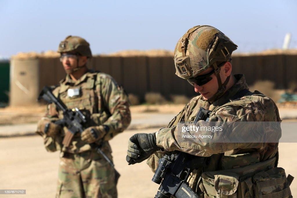 U.S. handover of al-Qaim base : News Photo