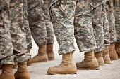 Soldiers in formation