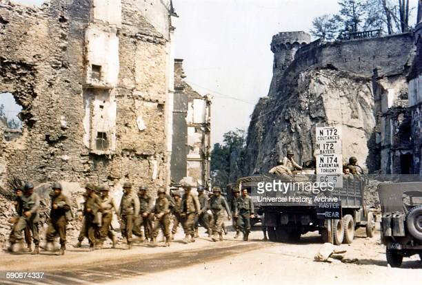US soldiers in France during World War Two 1944