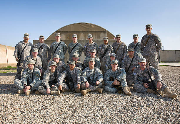 US soldiers in group shot, 1st Infantry Division