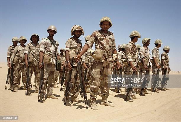Soldiers in Saudi Arabia during the Persian Gulf War 1990