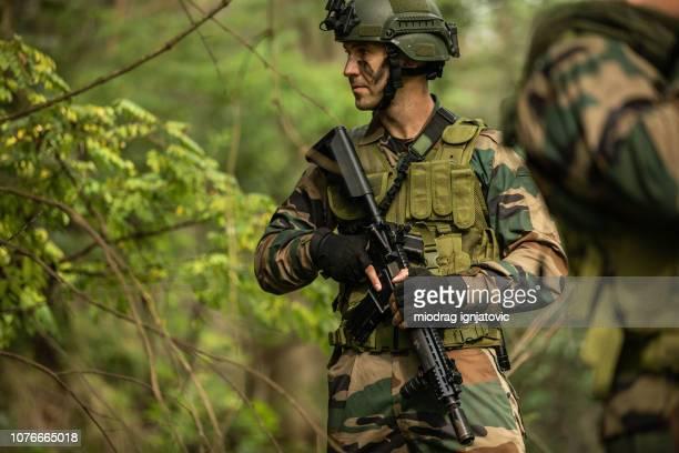 森の中の兵士
