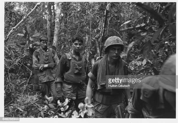 US Soldiers in Vietnamese Jungle
