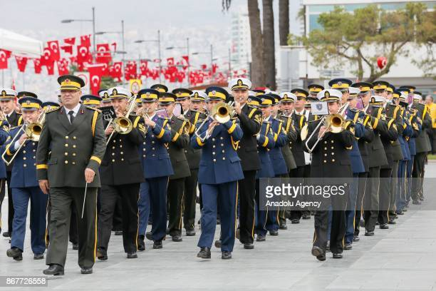 Soldiers march during the celebrations for the 94th Anniversary of Republic Day at the Izmir Cumhuriyet Square in Izmir Turkey on October 29 2017
