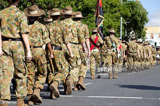 Soldiers Marching Away on Anzac Day