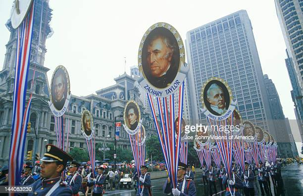 Soldiers Marching in American Bicentennial Parade, Philadelphia, Pennsylvania