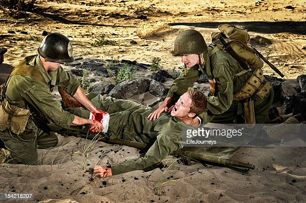 WWII Soldiers - Medic Wounded And Private Triage