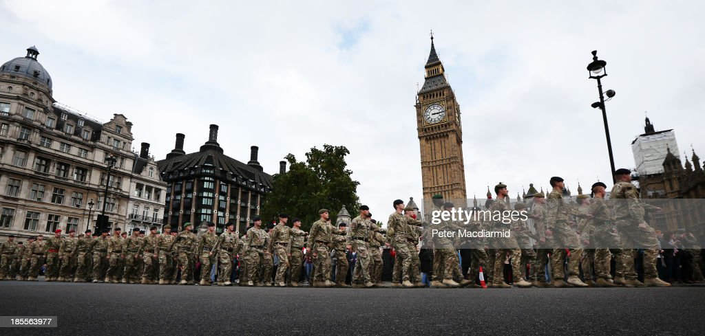 1 Mechanized Brigade Parade Through London After Returning From Afghanistan : News Photo