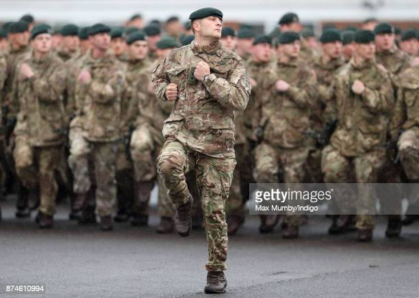 Soldiers of 5th Battalion The Rifles take part in their homecoming parade following a nine month operational deployment to Estonia at Ward Barracks...