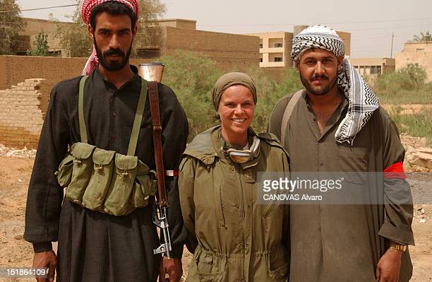 Soldiers of Alpha Company of the 41st Infantry Battalion 1st Armored Division in Kuwait during the Iraq war in the Virginia Camp journalist Caroline...