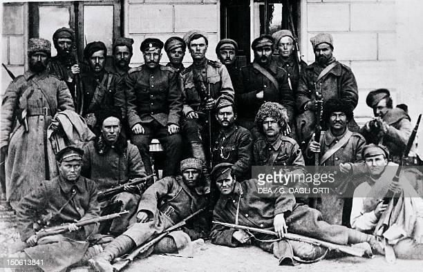 Soldiers of General Kornilov's Army in 1918 Russia 20th century