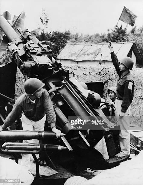Soldiers of the 172nd antiaircraft company of the thanh to regiment defending the harbor town of haiphong north vietnam 1972