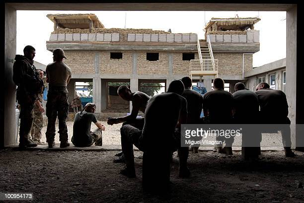 Soldiers of the 2nd Infantery Company rest on May 26 2010 in Chahar Darreh Afghanistan Germany has more than 4500 military forces in Afghanistan as...