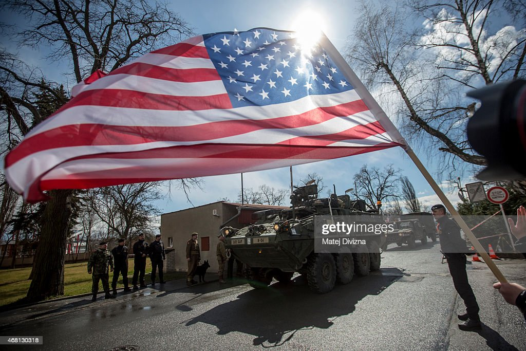 "U.S. Troops Cross Czech Republic In ""Operation Atlantic Resolve"" Exercises : News Photo"