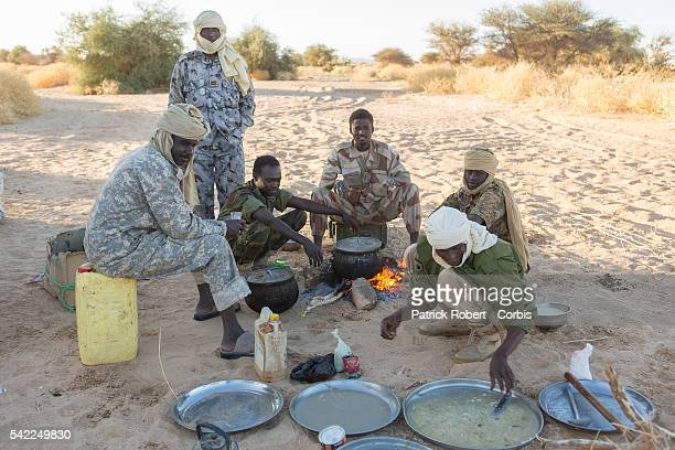 Soldiers of the Chadian Army on Patrol in area of Kidal in Mali. Chadian forces, trained in desert combat, have backed French forces in some of the...