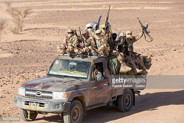 Soldiers of the Chadian Army on Patrol in area of Kidal in Mali Chadian forces trained in desert combat have backed French forces in some of the...