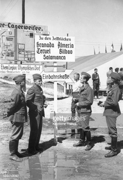 Soldiers of the Condor Legion in their quarters in Döberitz in 1938 This German air force created on September 1936 was sent to Spain where on April...