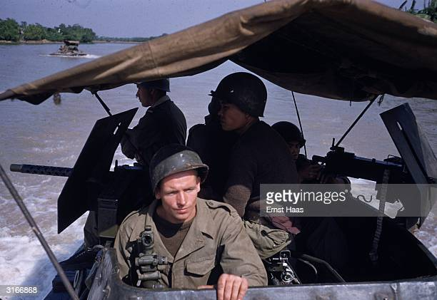 Soldiers of the French Foreign Legion at Phu Ly in Vietnam two years after the end of the First Indochina War