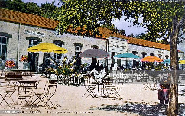 Soldiers of the French Foreign Legion relaxing Sidi Bel Abbes Algeria 20th century Sidi Bel Abbes was the headquarters of the 1st Regiment of the...