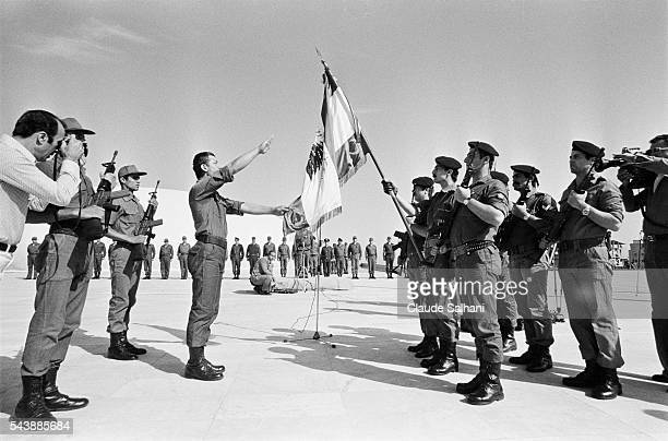 300 soldiers of the new Lebanese Army are commissioned in front of the Commander in Chief General Victor Khoury