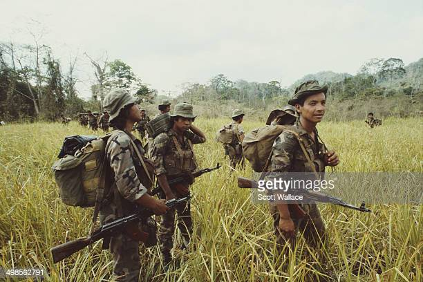 Soldiers of the Sandinista Popular Army in Nicaragua 1987