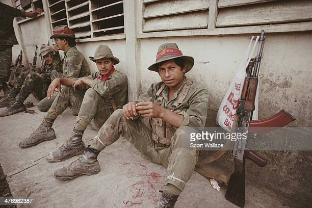 Soldiers of the Sandinista Popular Army in the Jinotega region of Nicaragua 1990
