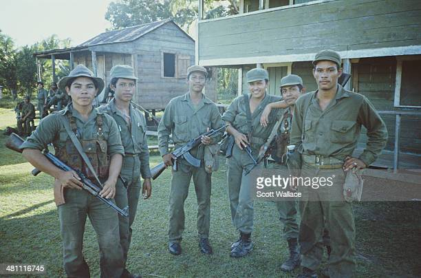 Soldiers of the Sandinista Popular Army Layasiksa Nicaragua 1986