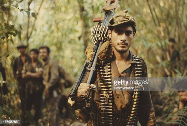Soldiers of the Sandinista Popular Army Nicaragua 1987