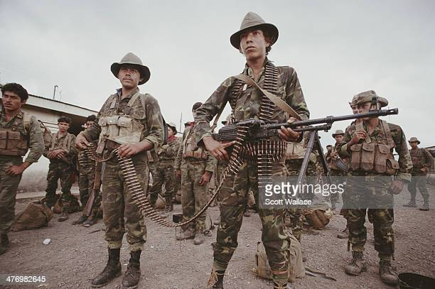 Soldiers of the Sandinista Popular Army Nicaragua 1990