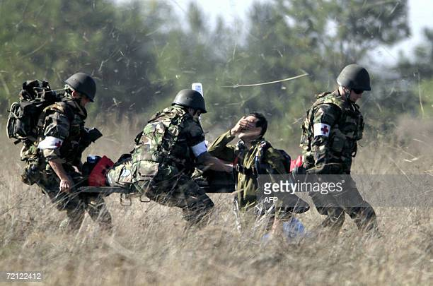 Soldiers of the Slovak multiple-function battalion from Hlohovec exercise on the Zahorie military base facility, near the small town Malacky,...