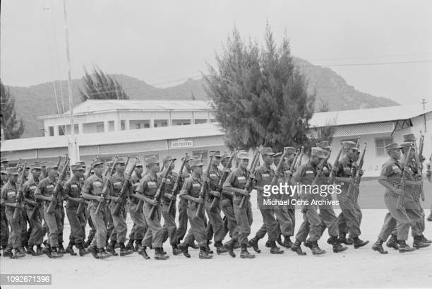Soldiers of the South Vietnamese Army in South Vietnam during the Vietnam War March 1962